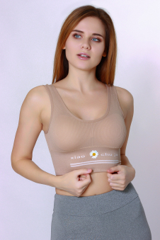 Топ женский, цвет - коричневый