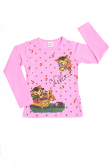 Толстовка для девочки, цвет - св.розовый
