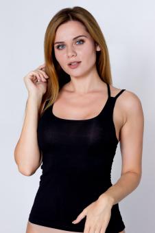 Топ женский, цвет - черный