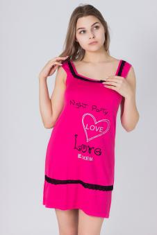 Сорочка, цвет - малиновый
