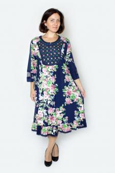 Платье, цвет - т.синий