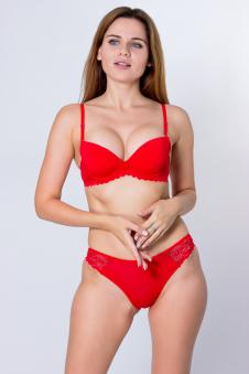 Комплект, цвет - красный