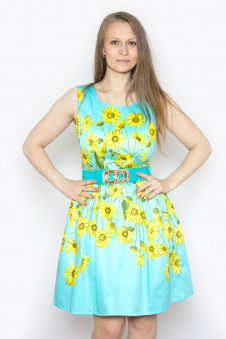 Платье, цвет - бирюзовый