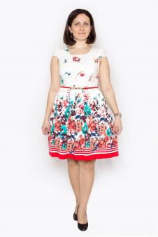 Платье, цвет - красный