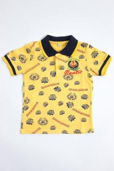 Футболка для мальчика, цвет - желтый