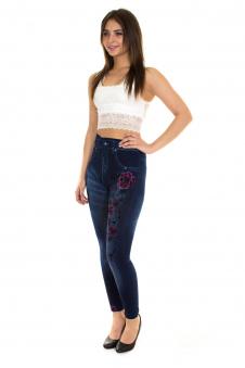 Легинсы, цвет - джинсовый_0