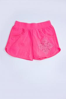 Шорты для девочки, цвет - коралл